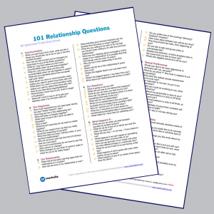 worksheet 101 Relationship Questions
